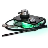Shisha-Geräte-Desktop-Haken-Tee-Set-Stil-DAB-Rig mit steuerbarer Acryl-LED-Leuchten 5 Farben Party-Bar-Raucher-Pfeife
