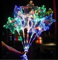 LED BOBO BALLOON Aşk Kalp Balonlar LED Işık Beş köşeli Balon Noel Cadılar Bayramı Doğum Günü Partisi Dekor Bobo Balonlar Dekorasyon DHL