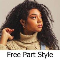 150% Densité mongole Afro Kinky perruque frisée avec Bang 13x6 cheveux humains Lace Front Wigs Pré plumé pour femmes noires Nœuds Blanchis
