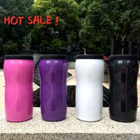NEW 12oz Curved Can Cooler Stainless Steel Rainbow Color Col...