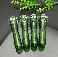 nuova Europa e Americaglass pipe bubbler fumatori acqua tubo di vetro bong verde tubo di cetriolo bambino