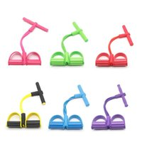 Resistance Bands Latex Elastic Pedal Exerciser Sit- up Traini...