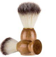 Berber Saç Tıraş Bıçağı Fırçalar Doğal Ahşap Kol Sakal Fırçası İçin Erkekler En Hediye Barber Aracı Erkekler Hediye Barber Aracı Erkek Tedarik