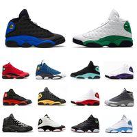 عاكس فرط الملكي ولديك لعبة الأحذية 13 رجل كرة السلة جزيرة محظوظ الخضراء الحب إن احترام 13S الفردي يوم الرياضية الرجال حذاء مصمم