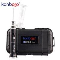 Orijinal Kanboro Ecube Master Taşınabilir Çivi Dab Rig Buharlaştırıcı Kiti Balmumu Vape Kalem Için LED Ekran Cam Boru E CIGS Buhar