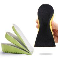 Invisible Aumento meia palmilha de alta qualidade Homens Mulheres Altura Aumentar palmilhas macias respirável Pés Heel Almofada Cuidados