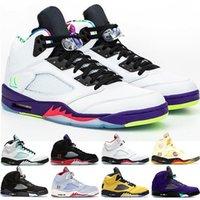 2020 أحذية كرة السلة Jumpman 5 5S النار الأحمر أعلى 3 DUCKS جزيرة العنب الأخضر أسود أبيض اسمنت رجل مدرب احذية رياضية الحجم 7-13