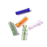 Heißes schönes Design Mini-Glasfiltermundstück Glas Spitzen Glas bong Wasserrohr Zubehör 40mm Länge