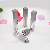 7ml conduziu tubos de brilho labial vazio quadrado claro lipgloss garrafas receáveis recipiente plástico lipgloss maquiagem empacotamento com espelho e luz nova