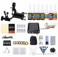 Kit Completo Tattoo 1 Rotary Equipment Machine Gun Tintas Set Alimentação descartáveis agulhas de tatuagem US PLug 0bap #