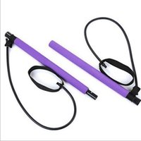 Portable Fitness Pilates Bar Yoga Tension Bar for Chest Expa...