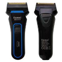 Elektrikli Tıraş Makineleri Kemei 2 Bıçakları Jilet Erkekler için Şarj Edilebilir Tıraş Makinesi Taşınabilir SideBurns Kesici D401