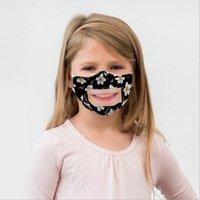 Máscaras crianças Lip Idioma Respirador Crianças Impresso PET Limpar Mouth capa lavável Máscaras face visível exterior de algodão máscara protetora LJJA188