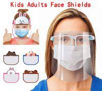 US Stock de protection Masque visage avec lunettes transparent Anti liquides Visage Bouclier anti-poussière Splash bouche visage clair Masque de protection