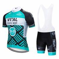 2020 2020 Team Vital Vital Vêtements Vélo Jersey Ropa Ropa Dry Hommes Bicyclettes Summer Pro Vélo Jersey 12D Pad Vélo Maillot Culotte CVFC #
