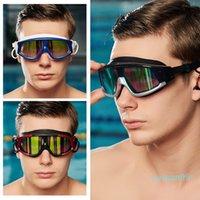 ماركات عالمية- نظارات السباحة للرجال السباحة نظارات المضادة للضباب الأشعة فوق البنفسجية حماية المياه النظارات حملق Zwembad Natacion Hombre.a50 C19041201