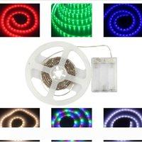 Водонепроницаемые светодиодные полосы RGB SMD 5050 Гибкие огни 5V батареи питание LED освещение LED лента свет Диод лента телевизор Настроение свет