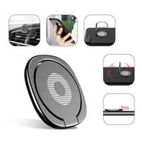Nouveau luxe à 360 degrés Annulaire métal Support Smartphone téléphone portable doigt Support à 7 pour l'iPhone 6 Samsung Tablet avec Forfait MQ200