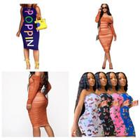 Poppin Designer Mujeres Vestido Verano Bodycon Vestidos Ropa para Lady Slim Fit Mariposa Dinero Diseño Diseño de Otoño