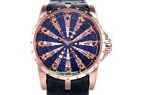 4 Style beste Qualität ZF-Hersteller 45mm Excalibur RDDBEX0785 904 Stahl 18k Gold-Diamant-Edelstein Schweizer CAL.RD821 Bewegung Automatik Herren-Uhr-Uhren