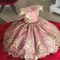 Fille élégante fille longue soirée robe bébé fille baptême costume princesse pour enfants pour la tenue de soirée de mariage