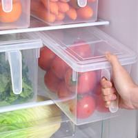 주방 투명 PP 스토리지 박스 곡물 콩 스토리지 홈 주최자 식품 용기 냉장고 보관 박스를 밀봉 포함