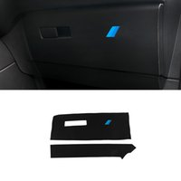 Accessoires voiture Siège passager Boîte à gants anti Coup de pied Tapis Tapis en cuir PU Autocollant Décoration pour BMW X1 F48 2016-2020