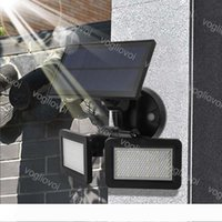 태양 광 보안 조명 모션 센서 3Model 48LEDs 화이트 ABS 더블 헤드가 야외 정원 통로 정원 DHL 스포트 라이트 쿨