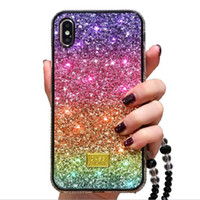Shiny Rainbow gradient color Phone Case cover pc+ Tpu for iph...