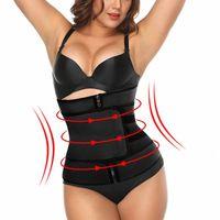 Femmes taille Zipper Sweat formateur flip culturisme Retour Ceinture Underwaer ventre WearShaper respirante Corset Équipement Minceur 7OMk #