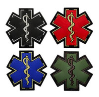 3D PVC Medical PARAMEDIC Crânio Patches Tático Militar Morale Patches decorativas Combate borracha Médico de emblemas para Caps Backpack