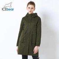 IceBear 2019 High Quality рыхлой Женские пальто Большой Мода Карманный дизайн Женские пальто с капюшоном вскользь пальто GWF18007I CX200728