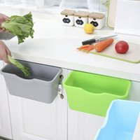 3PC armário de cozinha porta de plástico cesta de suspensão Lixo Lixo Lixo Resíduos Can Can Bin Titular do Desktop Storage Box de armazenamento