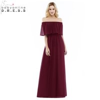 Babyonlindress Robe de Soiree Longue Sexy Open Back Burgundy Cap Sleeve Evening Dress Cheap MultiColor Chiffon Evening Gown cps952