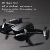 E99Pro مزدوجة 4K HD كاميرا WIFI FPV البسيطة المبتدئين الطائرة بدون طيار لعبة طفل، المسار الطيران، سرعة قابل للتعديل، ارتفاع الإيقاف، لفتة صور كوادكوبتر، 2-2