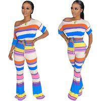 2020 nuovi vestiti da donna a buon mercato Cina all'ingrosso all'ingrosso Europeo e americano Due pezzi Set Sexy Sexy Pantaloni flarded ombelico sexy Pantaloni a due pezzi
