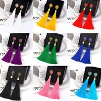 Böhmen-Art-Kristallrosen-Blumen-Ohrringe Geometric baumeln Ohrring-lange Troddel-Ohrringe für Frauen Mode Hochzeit Schmuck-Geschenk
