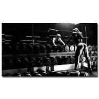 Сексуальная Бодибилдинг Девушка Мотивационная Quote Art Silk Poster Print 13x24 24x43inches Gym Room Decor Фитнес Спорт Picture 47