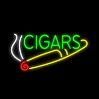 Cigars Smoke Head Shops Cigar Cigarette Neon Sign Handmade R...