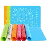 سيليكون الحصير الاطفال التعليمية الكتابة اليدوية حصير ملون مكان حصيرة الأبجدية الحيوانات الوسادة حجم 30 * 40 سم متعددة الأغراض الجدول حصيرة LX2580