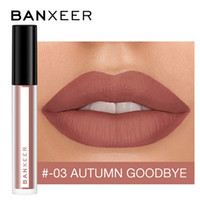Lip Gloss Banxeer 8 Couleur Liquide Mat Sexy Rouge à lèvres Sexy Maquillage de longue durée imperméable Cosmétiques