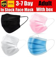 Disposable Face Masks black pink white with Box with Elastic Ear Loop 3 Ply Breathable Dust Air Anti-Pollution Face Mask mouth masks