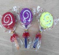 Handduk 20 stycken lollipop tårta färgglada godis kreativa presenthanddukar bomull härlig