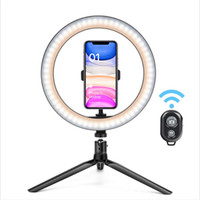 26cm drahtloser Bluetooth Steuer Selfie LED Ringlicht mit Stativ mit 3 Make Up Licht-Modi für YouTube Tiktok Video Studio