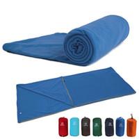 Portable Ultra-light Single Sleeping Bag Envelope Polar Fleece Outdoor Camping Hiking Tent Bed Travel Warm Sleeping Bag Liner