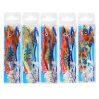 20pcs Luminous Jigs Atração da pesca de camarão isca isca Chumbo Sinker Squid Gancho Jigs Octopus Chocos iscas de camarão Tamanho 2.5 # 3 # T200602