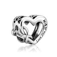 Ti amo fascino mamma per il regalo della madre donne ragazza adattando braccialetto pandora accessori della collana perline gioielli braccialetto fai da te
