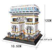LOZ Der Arc de Triomphe in Paris Building Blocks Modell, Mini DIY Montage pädagogisches Spielzeug, Ornament für Weihnachten-Kind-Geschenk, Collect 1028, USEU