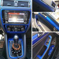 Car-Styling 3D 5D Carbon-Faser-Auto-Innenmittelkonsole Farbwechsel Molding-Aufkleber-Abziehbilder für Volkswagen Jetta 2015-2018