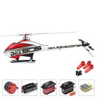 Drones Alzrc - Şeytan 505 Hızlı FLB Süper Combo RC Helikopter Mini K-Bar V2 3-Axle Gyro System Dijital Metal Servo